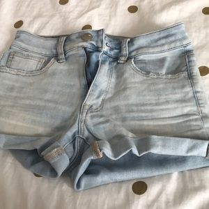 Light wash shorts from american eagle